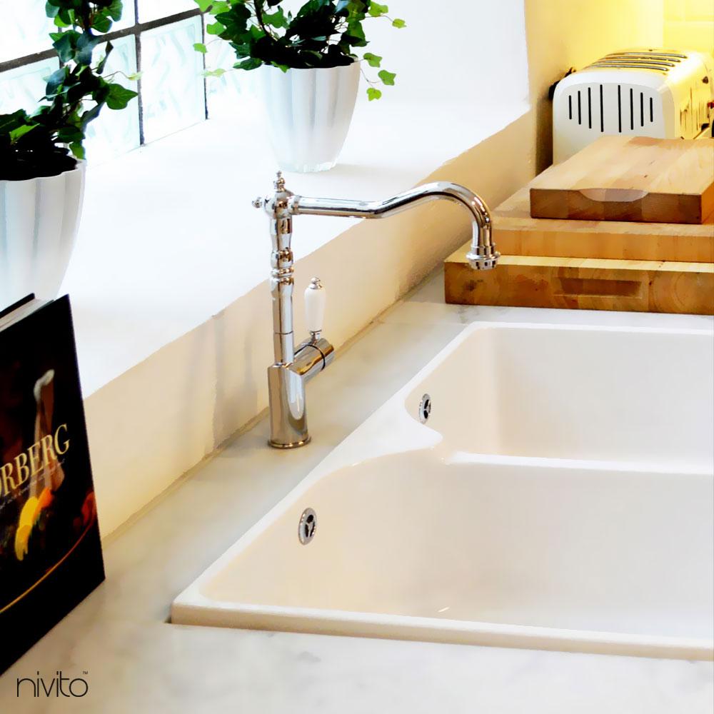 Keittiön Hana - Nivito 1-CL-110 White Porcelain Handle Color
