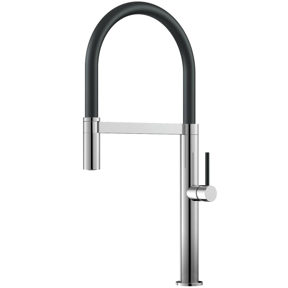 Vattenkran Utdragbart munstycke / Polerad/Svart - Nivito SH-210